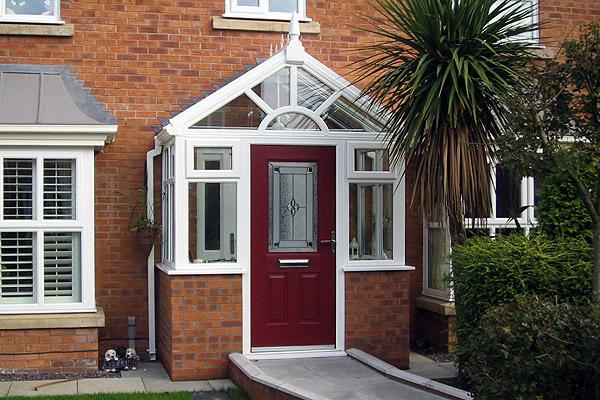 Upvc porches oakland windows conservatories quality for Upvc porch doors